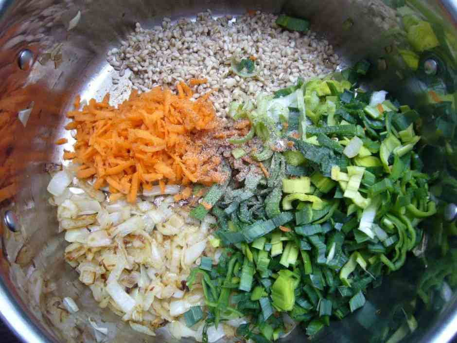 Persian Creamy Barley Soup Prep