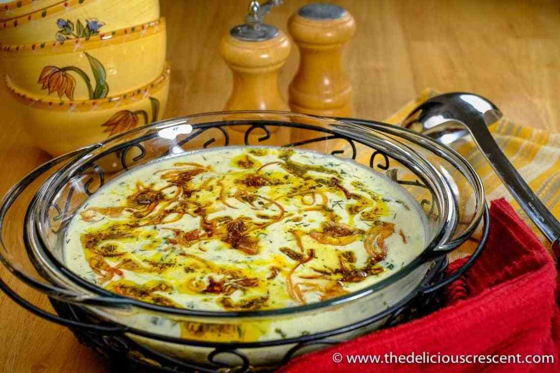 Chickpea Barley Yogurt Soup