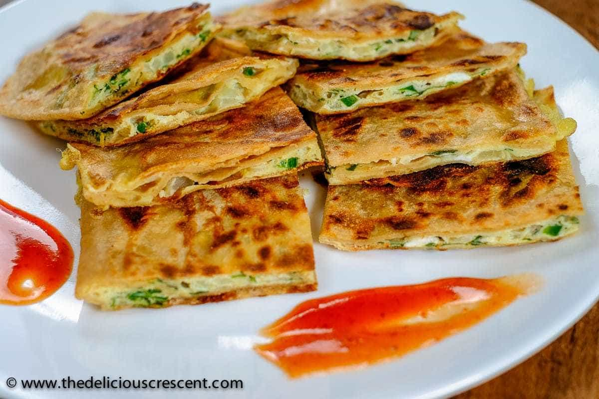 Omelette Stuffed Paratha