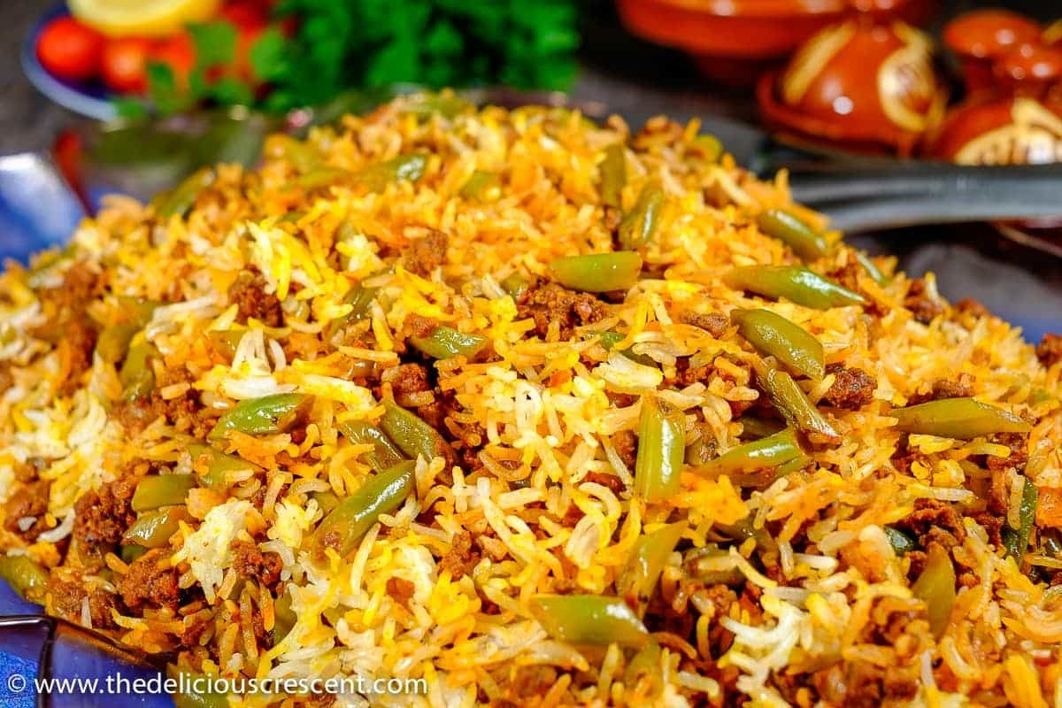 Persian Lubia Polo (Green Bean Rice)