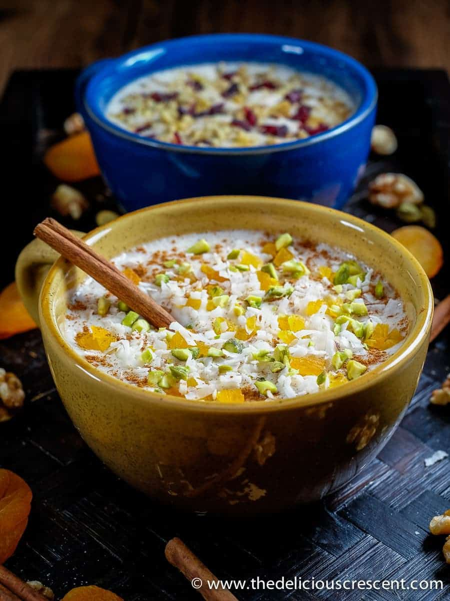 Healthy Orange Blossom Cinnamon Dessert Drink is a thick creamy milky hot winter beverage with a flowery fragrance, so soothing and refreshing! This is an adapted version of a popular middle eastern beverage known as Sahlab.