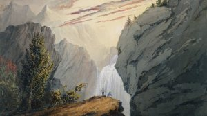 At the Waterfall - David Claypoole Johnston