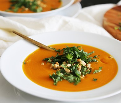 Denizen in the Kitchen with F&P: Pumpkin, kumara and lime soup