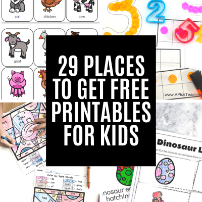 Free Educational Printables for Kids Stuck at Home