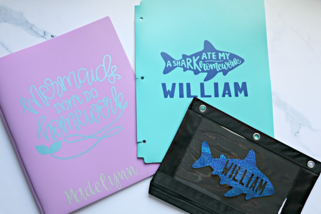 Cricut Personalized back to school supplies for kids