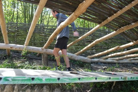 Round wood construction