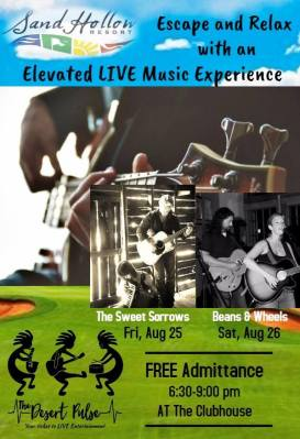 Southern Utah LIVE Music and Entertainment Guide, The Sweet Sorrows, Beans and Wheels, Sand Hollow Resort Music