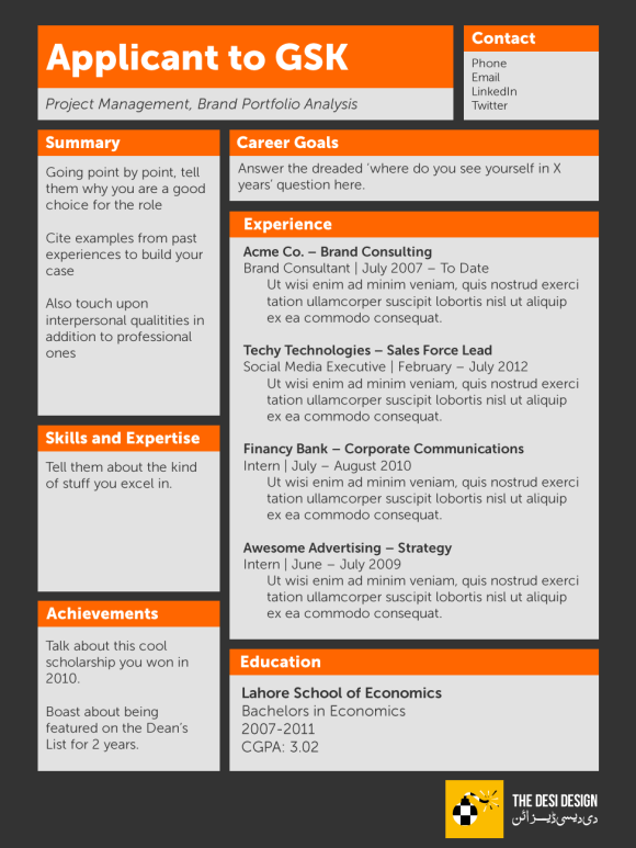 new resume design the desi design
