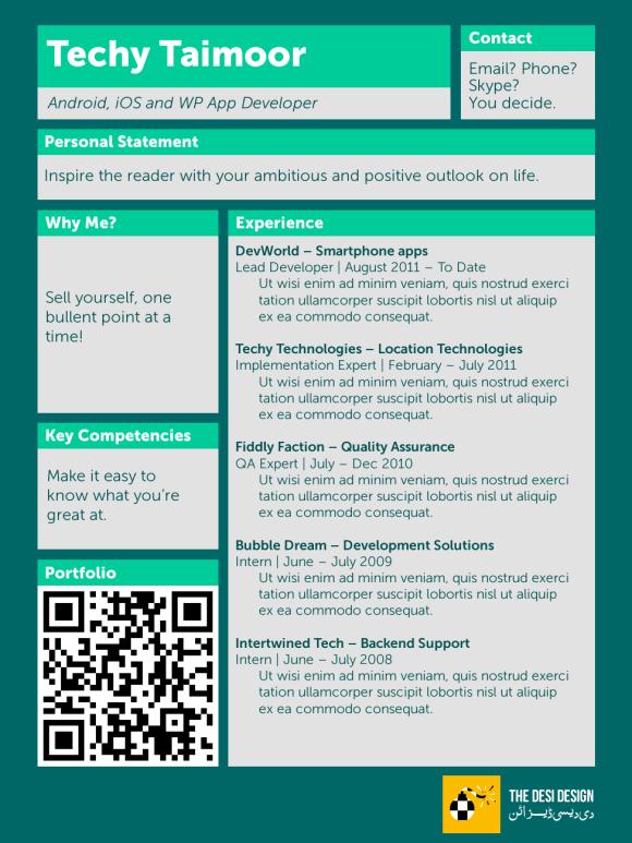 new resume design the desi design