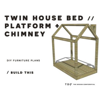 You Can Build This! Easy DIY Furniture Plans from The Design Confidential with Complete Instructions on How to Build a Twin House Bed with Chimney via @thedesconf