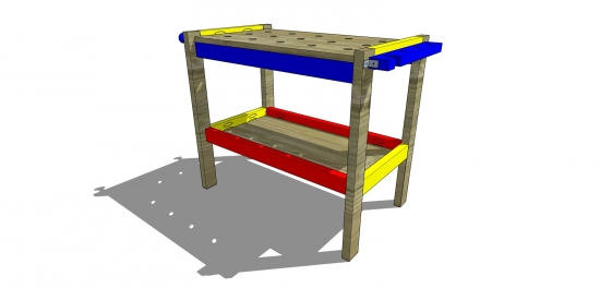 Finished Project for The Design Confidential Free DIY Furniture Plans // How to Build a Children's Play Workbench