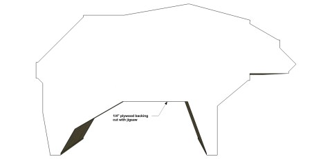 Step 7 for The Design Confidential Free DIY Furniture Plans // How to Build a Polar Bear Bookshelf