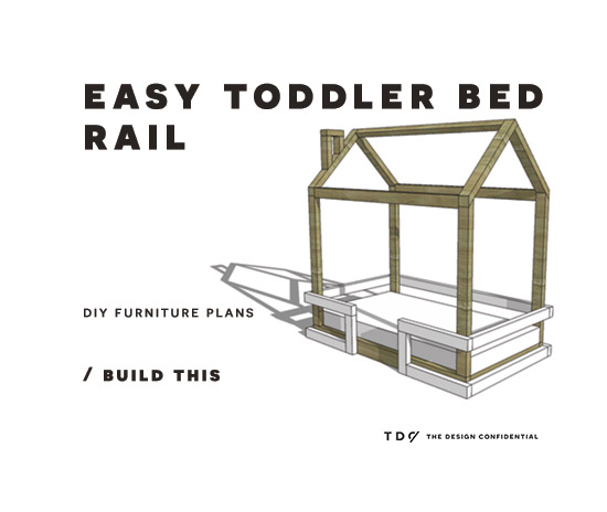 Spectacular DIY Furniture Plans How to Build a Toddler Bed Rail