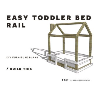 You Can Build This! Easy DIY Furniture Plans from The Design Confidential with Complete Instructions on How to Build a Bed Rail for Toddler Sized House Bed via @thedesconf