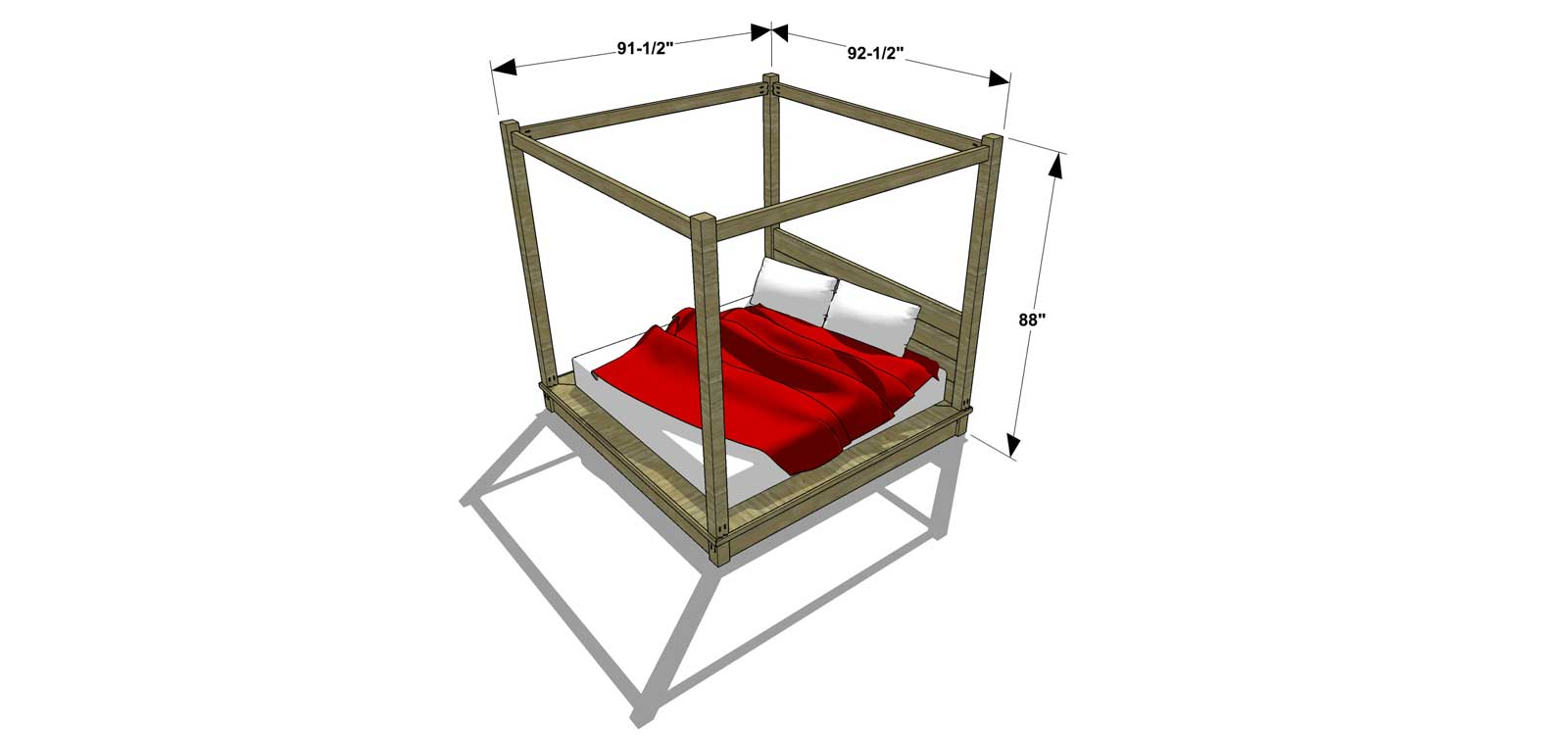 You Can Build This! Easy DIY Plans from The Design Confidential Free DIY Furniture Plans  sc 1 st  The Design Confidential & Free DIY Furniture Plans // How to Build a 4 Post Canopy Bed - The ...