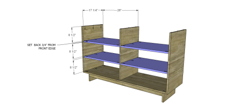 How to Install the Shelves for Free DIY Furniture Plans to Build an Emmerson 6 Drawer Dresser