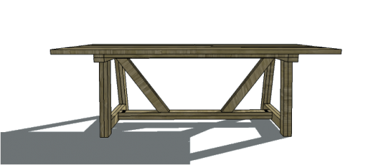 dining table furniture plans. free diy furniture plans to build an restoration hardware inspired 8\u0027 provence beam dining table