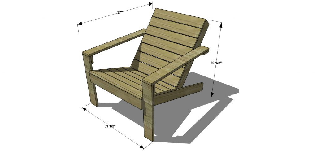 free woodworking plans to build a cb2 inspired sawyer adirondack rh thedesignconfidential com Outdoor Wood Plans Outside Furniture Plans Free