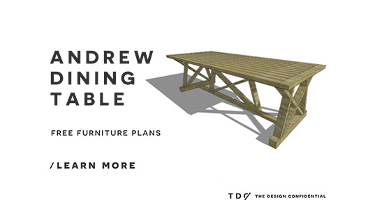 The Design Confidential Free DIY Furniture Plans // How to Build an Andrew Table