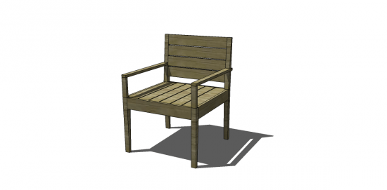 You Can Build This! Easy DIY Furniture Plans from The Design Confidential with Complete Instructions on How to Build an Indoor / Outdoor Belvedere Arm Chair via @thedesconf