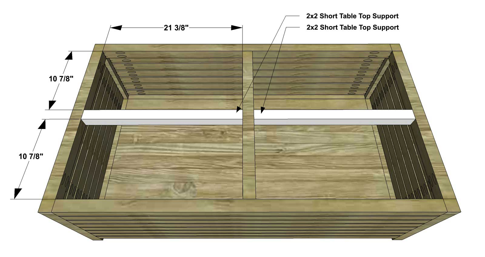 DIY Furniture Plans How to Build an Outdoor Slatted Coffee