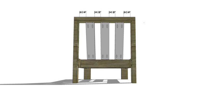 The Design Confidential Free DIY Furniture Plans // How to Build an Armless Chair for the Reef Outdoor Sectional Sofa