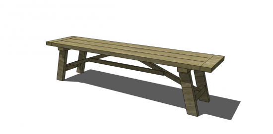 Superb Free DIY Furniture Plans To Build A Wooden Truss Dining Bench