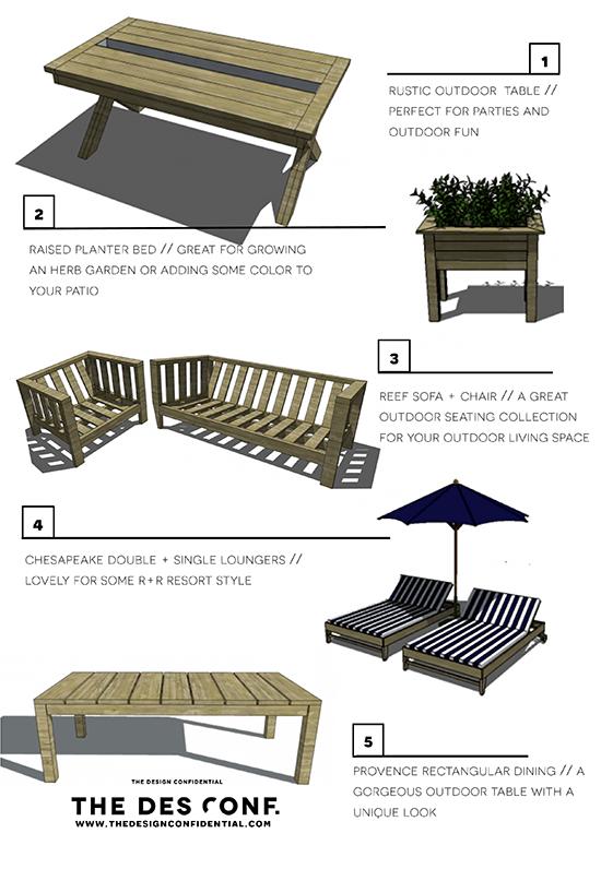 Top 20 DIY Outdoor Furniture Plans 1 Through 5