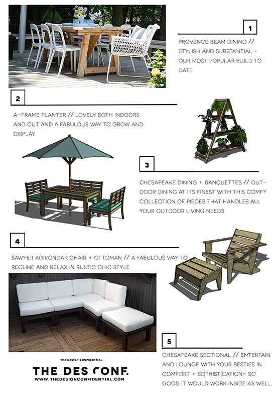 Top 20 DIY Outdoor Furniture Plans 6 Through 10