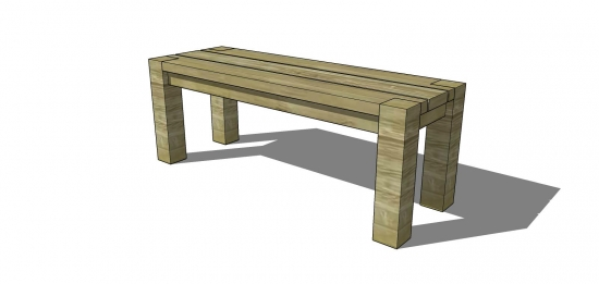 The Design Confidential Free Woodworking Plans to Build a Big Sur Coastal Collection 48 Inch Bench