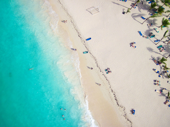 Tropical Beach from Above for The Design Confidential Artistic Appeal Wet + Wild Edition