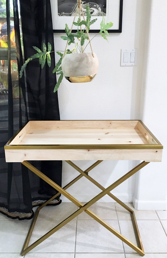 The Design Confidential x AVE Home // DIY In The Clear Oil Finish Butler Tray