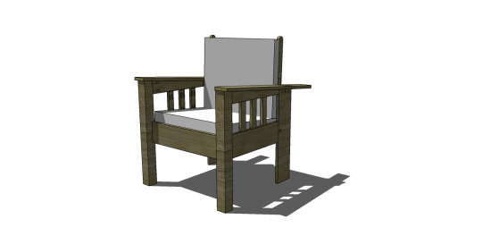 Free Diy Furniture Plans How To Build A Morris Chair The Design