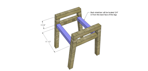 Chair Upper Stretchers for The Design Confidential Free DIY Furniture Plans: How to Build a Children's Two Tone Chair