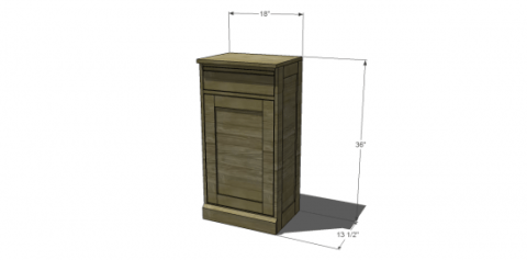 The Design Confidential Free DIY Furniture Plans to Build Pottery Barn Inspired Modular Bar Components – Cabinet Base