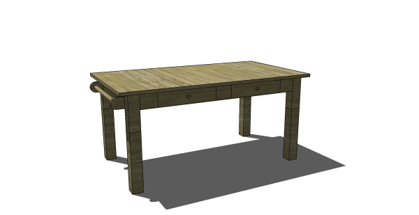 Fancy Free DIY Furniture Plans to Build a PB Inspired Carolina Craft Table with Interchangeable Leg Option