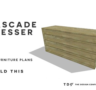 You Can Build This! Easy DIY Furniture Plans from The Design Confidential with Complete Instructions on How to Build a Cascade Dresser via @thedesconf