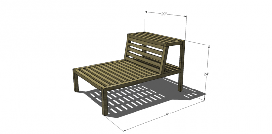 You Can Build This! The Design Confidential Furniture Plans to Build a Havana Islita Outdoor Armless Chair