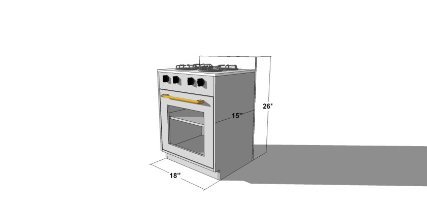 You Can Build This! Easy DIY Plans from The Design Confidential with Complete Instructions on How to Build a Chelsey Play Kitchen Stove and Oven via @thedesconf