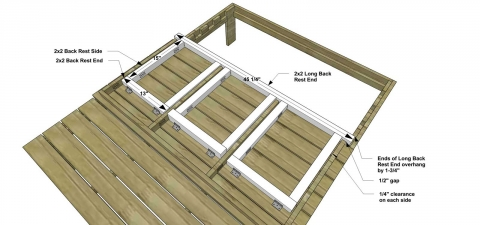 You Can Build This! Easy DIY Plans from The Design Confidential with Complete Instructions on How to Build a Kids Double Chaise with Awning via @thedesconf