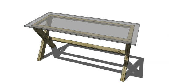 Free DIY Furniture Plans To Build A Pottery Barn Inspired Ava Coffee Table!  Isnu0027t She Fabulous? Oh How I Love A Good X Base On A Table.