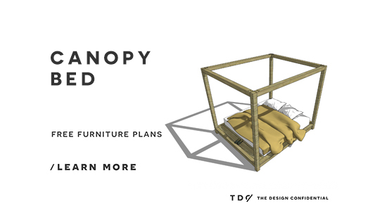 Beautiful Free DIY Furniture Plans How to Build a King Sized Canopy Bed