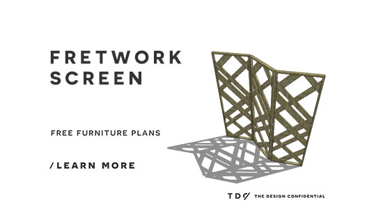 The Design Confidential Free DIY Furniture Plans // How to Build a Fretwork Folding Screen