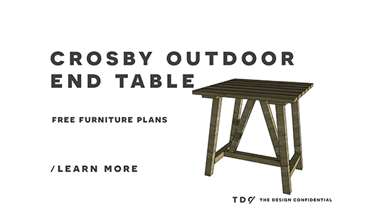 Free Outdoor Furniture Plans How To Build A Crosby Indoor