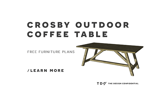 Free DIY Furniture Plans: How To Build A Crosby Indoor Outdoor Coffee Table    The Design Confidential