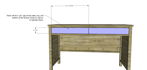 Drawer Fronts for Free DIY Furniture Plans // How to Build a Hughes Desk