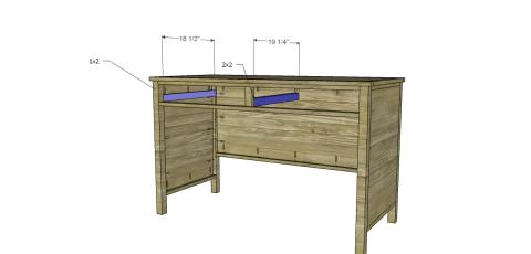 Drawer Slide Spacers for Free DIY Furniture Plans // How to Build a Hughes Desk