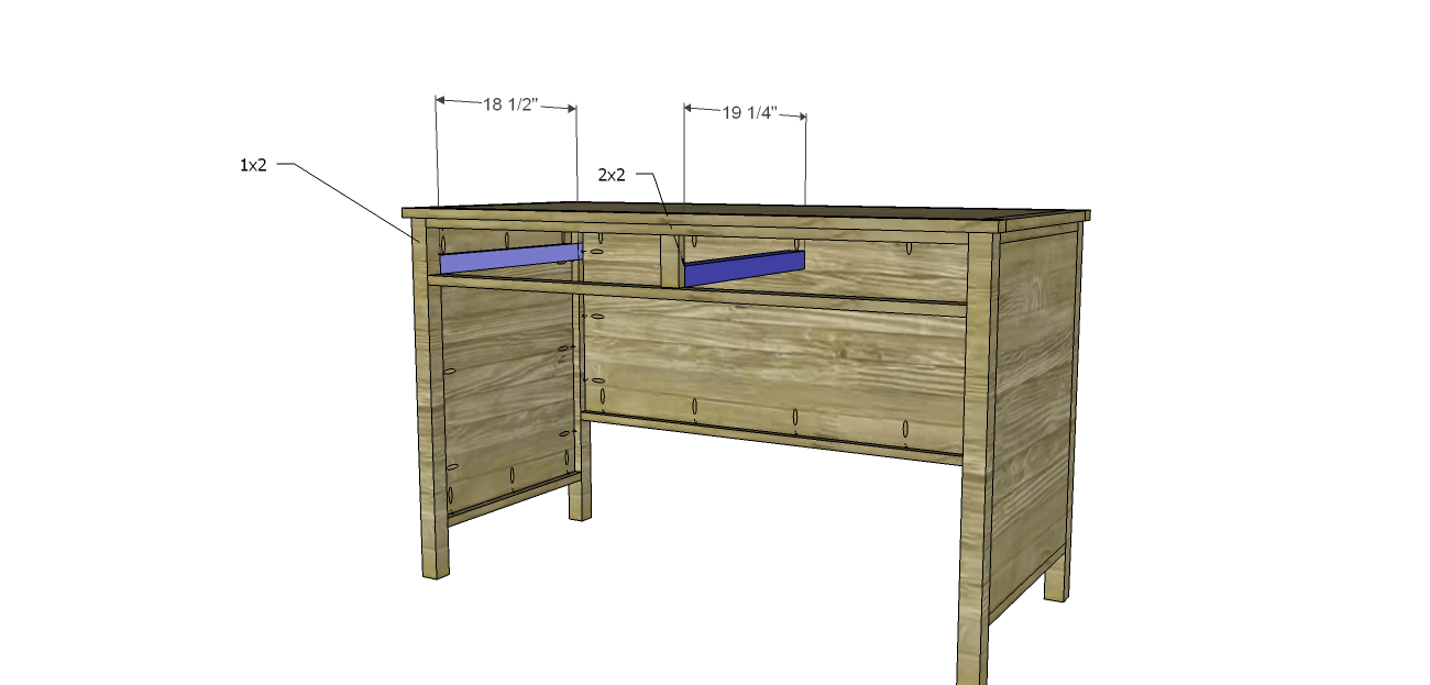 Drawer Slide Spacers For Free DIY Furniture Plans // How To Build A Hughes  Desk