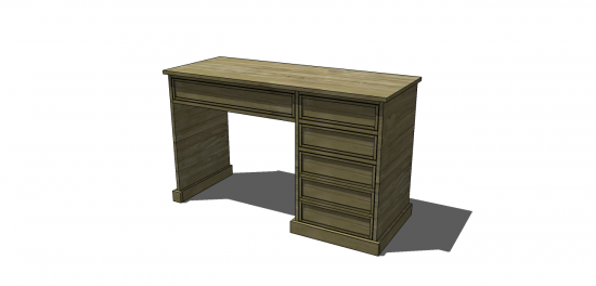 You Can Build This! Easy DIY Furniture Plans from The Design Confidential with Complete Instructions on How to Build a Carr Desk via @thedesconf