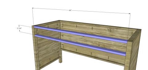 Desk Stretchers for Free DIY Furniture Plans // How to Build a Hughes Desk